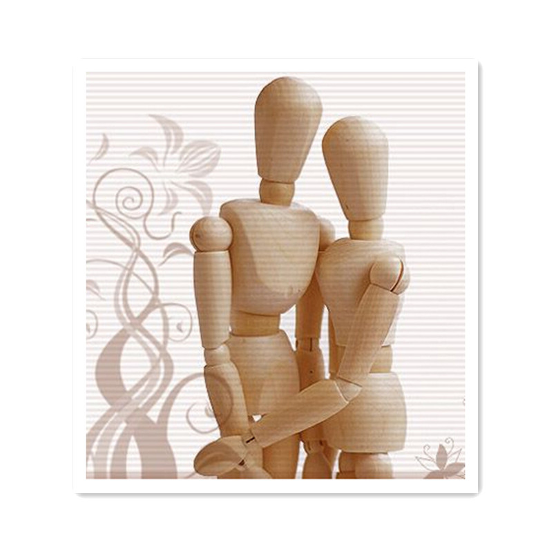 Hot Wooden Artist Manikin Jointed Mannequin Hand Blockhead Puppet,30CM Wood Toys for Decoration 2 Pcs/Set<br>