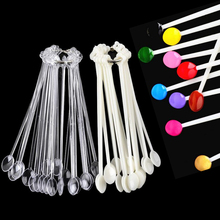 100pcs Spoon Shape Nail Art Tips Sticks False Display Practice Fan Polish Gel Swatches Color Sample Tools Equipment Manicure Pro(China)