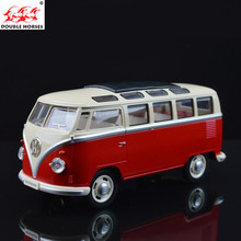 volkswagen VW bus 1:24 Diecast Alloy Diecast Models Car Toy Collection Miniature Pull Back Doors Openable Bus Boy Children Gift(China)