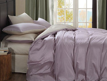 Pink Purple color 1200 Thread count 100%  long-staple cotton 4 pieces set bedding set King queen size  princess style customize