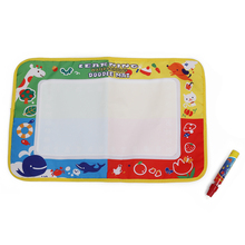 Baby 4 color Water Drawing Toys Mat Magic Pen Water Drawing Board
