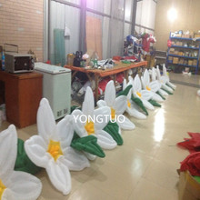 (2PCS/LOT)12m lengthled lights inflatable flower chains for wedding decoration(12m)(China)