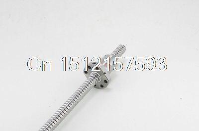 (1)SFU2005-4 Ball Screw Set Length 200~500mm 20mm Ball Dia With One Ball Nut<br>