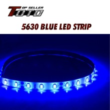 High Power DC 60cm 5630 36 SMD Blue Car Auto Flexible LED Strips Daytime Running bar Light Decoration DIY DRL lamp Waterproof