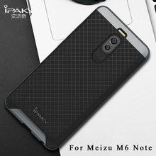 meizu m6 note case Original iPaky Brand meizu note 6 cover Silm Armor PC Frame + silicone Back Cover For meizu m6 note6 cases(China)