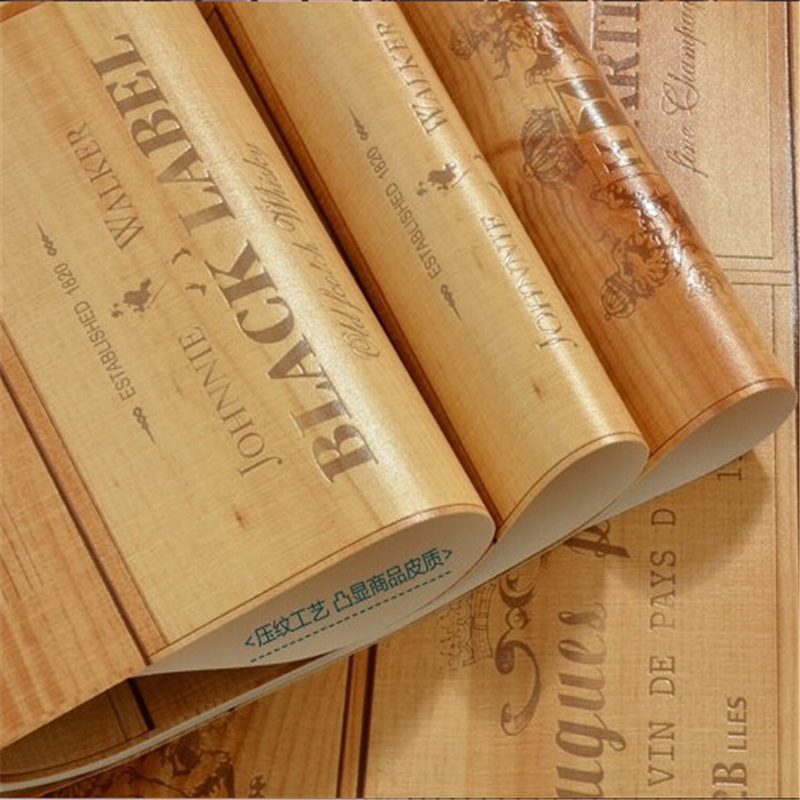 beibehang hot sale quality wood wallpaper wine box plaid wall paper three-dimensional relief papel de parede For Living room<br>