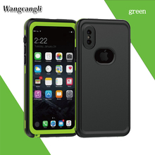 Wangcangli Waterproof case for iphone x case silicone Defense se shell for iphonex case Dust proof for iphone 8 phone case new