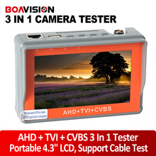 "Portable Wrist 4.3"" LCD HD AHD Tester TVI CVBS Analogy CCTV Camera Test Monitor Tester,5V/12V Power Output,Cable Test"