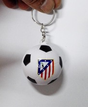 Atletico Madrid   football team souvenir  football keychain,Atletico Madrid  soccer  ball keyring ,4pcs/lot