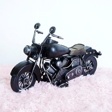 Wrought iron motorcycle models retro antique handmade limited edition for Harley gifts Gifts to send boys