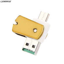 Buy LANDFOX OTG Type C USB 3.1 Micro SD TF Card Reader Adapter Android Phone Windows 98/NT/ME/2000/XP/7/8.1/10 Drop shipp for $2.86 in AliExpress store