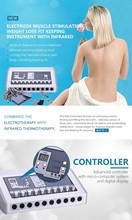 Newest popular EMS fitness machine Electro Stimulation combining infrared heating body slimming and electronic muscle stimulator