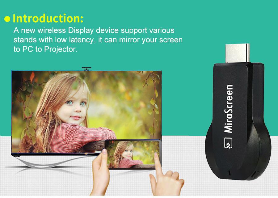 عرض لاسلكي من الهواتف الذكية الى التلفاز Mirascreen MX جديد 1