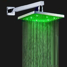 Superfaucet LED Shower Head,Shower Head With Arm,Powerful LED,Rainfall Shower Set,LED Light Shower Head HG-4105celling