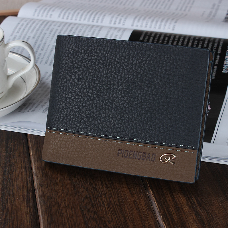 Lexury Leather Horizontal Mixed Color Card Clutch Wallet Mens Business Soft Wallet Pocket Money Clip<br><br>Aliexpress