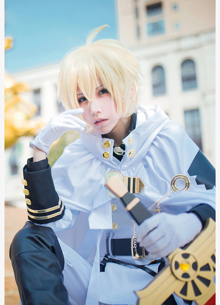 Anime Seraph Of The End Owari no Seraph Mikaela Hyakuya Uniforms Cosplay Costume with Wig Full Set