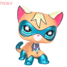 5cm LPS Standing Short Hair Cat Super Hero Masked Kitty Pet Shop Toys(China)
