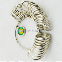 Wholesale High Quality Cheap Ring Measuring Tool Ring Sizer Ring Gauge 20pc/lot(China)