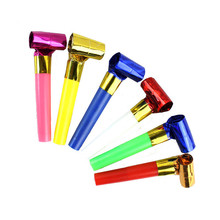 10Pcs/set Funny Colorful Whistles Kids Childrens Birthday Party Blowing Dragon Blowout Baby Birthday Supplies Toys Gifts(China)