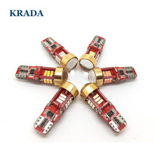 KRADA 2x Canbus Car LED Bulbs T10 W5W car interior Wedge Tail Light Parking Dome Door Side Lamp auto lada styling - Shenzhen Krada Store store