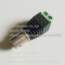 CAT5 To Camera CCTV Video Balun BNC female jack AV Screw Terminal Connector ,10Qty , Free shipping(China)