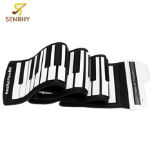 SENRHY USB 61 88 Keys Roll Up Piano For Beginner Kids Toy Gift Musical Instrument Pianos For Starters Learners Accessories(China)