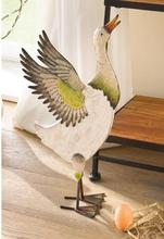 Free shipping,49*27cm,super big,Garden decoration move gifts colored duck ornaments painted wooden plus large iron