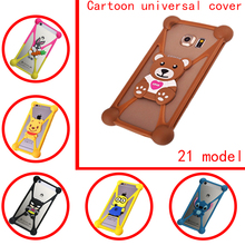 For Lava Z10 Z50 Universal cell phone model Cartoon winnie teddy bear minion stitch Silicone Case For Lava Iris Atom 2 3 X 2X(China)