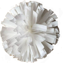 32CM White cheerleading pompoms (2pieces/lot) Cheers pompon The Handle can choose The Color can free combination
