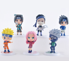 Wholesale price 6pcs/lot 7cm PVC Naruto action figure set Q Edition Toy Collection Naruto japanese anime figures Model toy Set