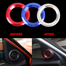 ABS Chrome Trim Audio Ring Cover Car Sticker Loudspeaker Circle Interior Accessories decorative for HONDA CIVIC 10TH 2016 2017