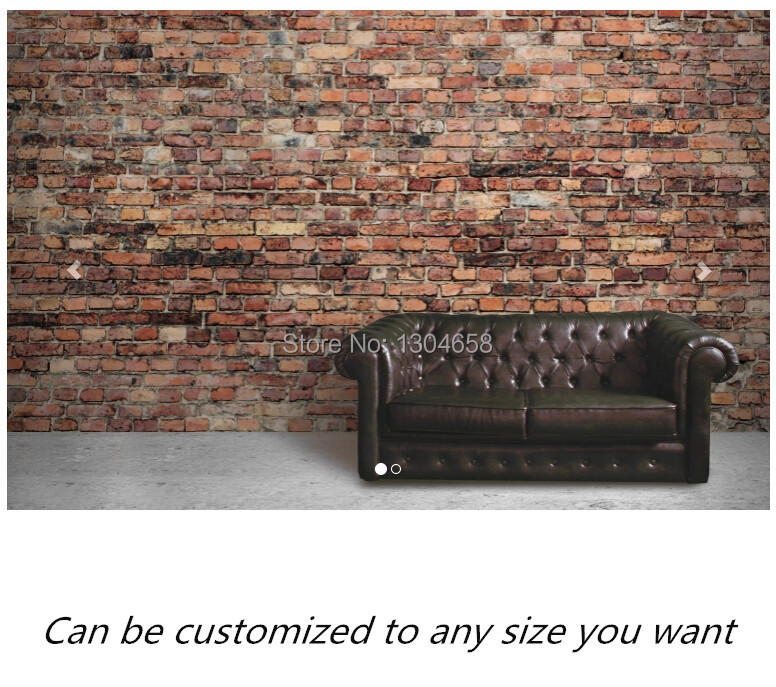 Free shipping custom murals Black and Red Aged Brick Wall Mural bedroom, living room TV backdrop wallpaper<br>