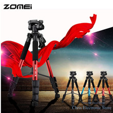 Original ZOMEI Q111 Portable Tripod Professional Aluminum Camera Tripod for DSLR Camera Gopro Flexible Video Tripod Stand