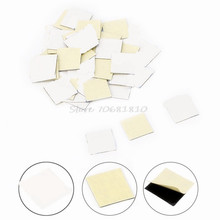 50Pcs 14*14mm Sticker Thermal Double Side Adhesive Tape Heatsink For CPU Screen -R179 Drop Shipping