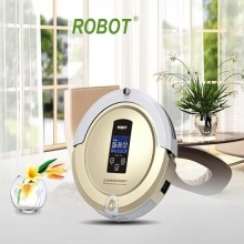 (Ship from USA) Hot Sale Auto Robot Vacume cleaner A325 (Sweep,Vacuum,Mop,Sterilize)LCD Touch Screen,Schedule,Auto Charge(China)