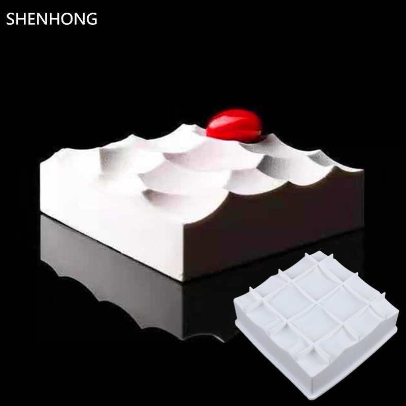 SHENHONG Lava 3D Cake Moulds For Ice Creams Chocolates Pastry Art the Cells Cake Mold Pan Bakeware Accessories Geometric shapes(China (Mainland))