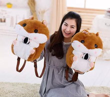 1PC Cute Super Q Cartoon Chubby Hamster Squirrel Plush Toy Doll Backpack Shoulder Bag Adorable Birthday Gift