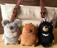 Plush toy 1pc 14cm koala platypus chicken penguin bear zero case little key bag pendant stuffed toy cute creative gift for baby