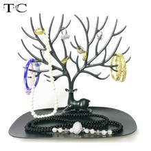 Newest Little Deer Bracelet Storage Tree Shelf Stand Holder Organizer for Earrings Necklace Ring Display Jewelry Organizer