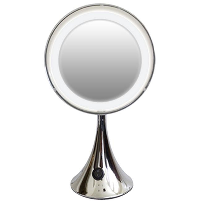 Rucci M874 10x Trumpet Base Led Lighted Mirror