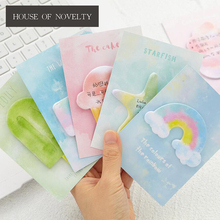 My Colorful World Memo Pad N Times Sticky Notes Escolar Papelaria School Supply Bookmark Post it Label(China)