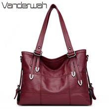 HOT women bag Lady Top-handle bags handbags women famous brands female Stitching casual Big shoulder bag Soft Tote for girls SAC(China)