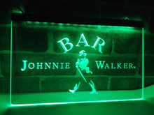 LA439- BAR Johnnie Walker Whiskey   LED Neon Light Sign     home decor  crafts