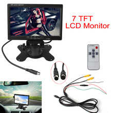 7 Inch Color TFT LCD Headrest Car Rear View Monitor 7'' Parking Rearview Monitor 2 Video Input For Reverse Backup Camera DVD(China)