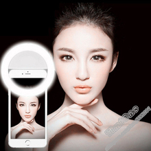 Universal Luxury Photography  LED Flash Light Up Selfie Luminous Phone Ring For iPhone SE 7 6S Plus Samsung S7 S6 Edge HTC LG
