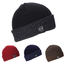 Men Women Unisex Knit Baggy Beanie Winter Hat Slouchy Chic Hip-hop Cap Skull blue red 4colors #6