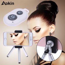 Aokin For Huawei P10 360 Rotation Flexible Phone Holder for iPhone 6 Tripod Table Camera Stand Desktop Bracket +Remote Control(China)