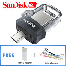 SanDisk Pen Drive 16gb Usb Flash Drive 64GB SDDD3 Extreme USB 3.0 Dual OTG 128GB 32GB 8GB High Speed Up To 150MB/S USB U Disk