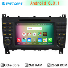 1024*600 Octa Core Android 6.0.1 Car DVD Player for Mercedes Benz C CLK CLS CLC Class W203 W209 W219 Radio GPS 2GB RAM 32GB ROM(China)