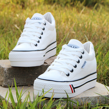 2017spring new fashion women shoes casual platform striped Canvas cotton simple women casual white shoes classic